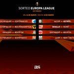 Inter-Getafe y Sevilla-Roma en octavos de la Europa League